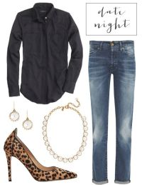 date night outfit with leopard pumps | Fashion Sense ...