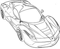Free coloring pages of ferrari