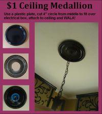 DIY Ceiling Medallion | Junkorama | Pinterest