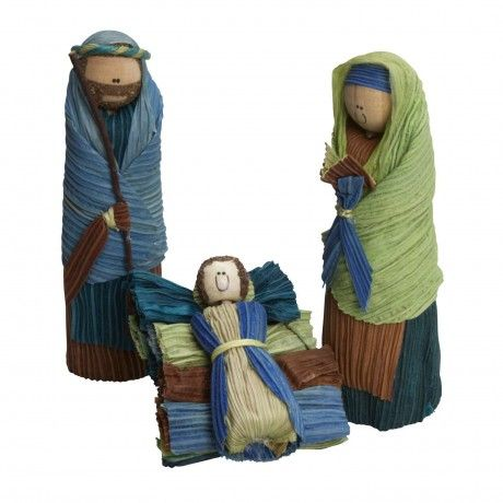 Corn Husk Holy Family