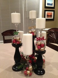 Christmas Wine glass centerpiece | Holidays | Pinterest