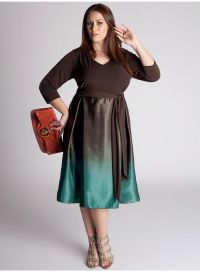 Vika Plus Size Dress in Brown