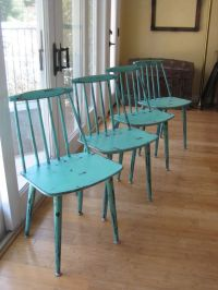 Set of 4 Danish Modern Mid-Century Kitchen Chairs Up ...
