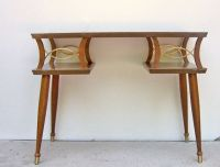 Mid Century Modern Console Table -- Vintage Wooden Sofa ...