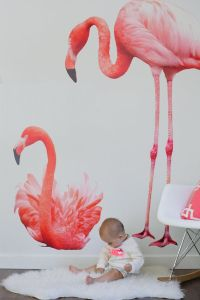 Vinyl Wall Sticker Decal Art - Flamingos