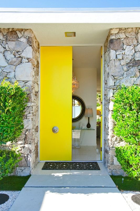 That yellow door is amazing - what an entry way!