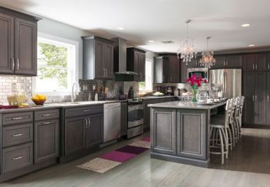 Maple Kitchen Cabinets Grey