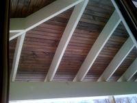 Painted rafters and stained beadboard | decorating | Pinterest