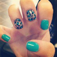 ombr cheetah nail designs