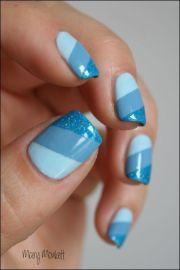 ocean - blue nail design nails
