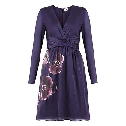 Altuzarra For Target: wrap dress in purple orchid print, $49.99