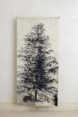 northerine pine wall tapestry / anthropologie