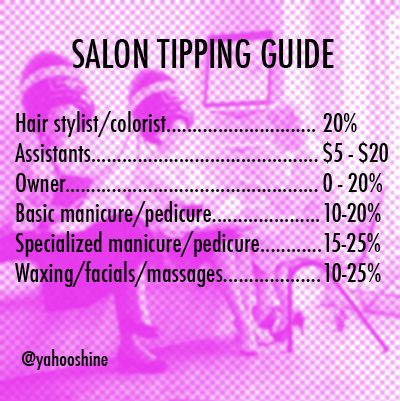 salon tipping guide beauty bar pinterest