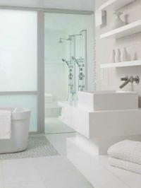 All white bathroom | Bathrooms | Pinterest