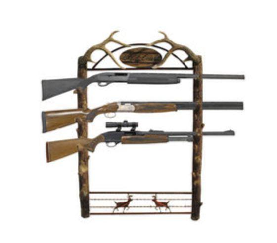 Wall Mount Gun Rack Security Rifle Cabinet Storage Hunting