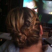 are cornrows like german braids high side ponytail with ...