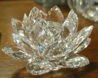 Swarovski lotus candle holder   Swarovski crystal   Pinterest
