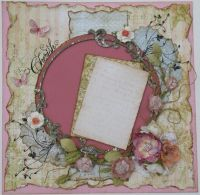 Premade Scrapbook Page 12 x 12 Vintage, Shabby Chic