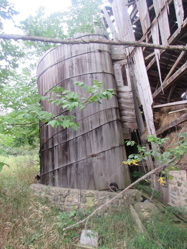 old wooden silo