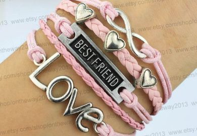 Heart Bracelet Love Bracelet Birthday Gift Best Friend Bracelet Bff