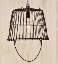 Vintage Egg Basket Pendant Light