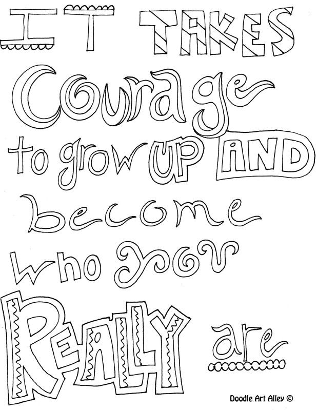 Religious Quotes Coloring Pages Adult. QuotesGram | printable courage quotes coloring pages