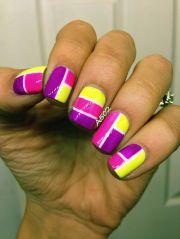 pink purple and yellow geometric