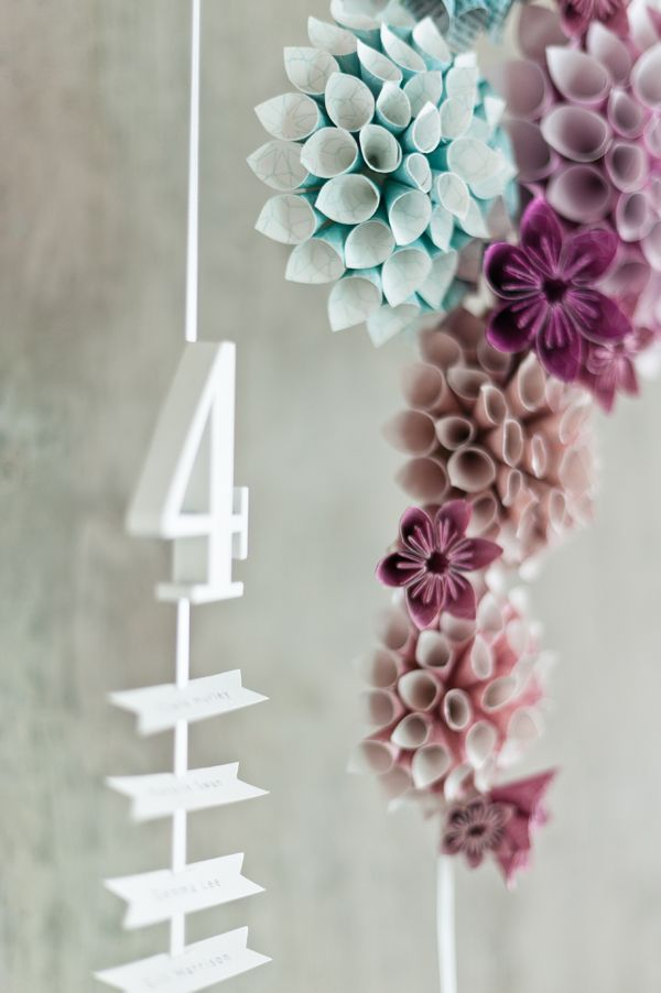 Paper Flower Wedding Decorations- Paper Popies and Peonies on earlyivy.wordpress.com