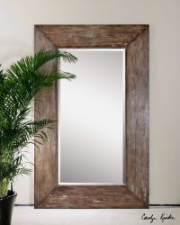 Extra Large Wood Wall Floor Mirror XL Oversized Rustic ...