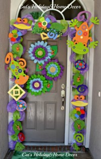 Summer door Decor ( lizards)   Projects   Pinterest