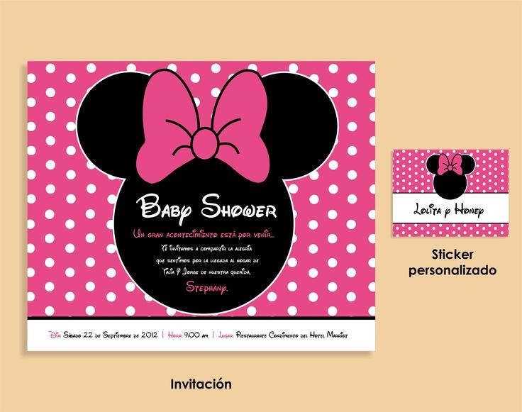 Invitaciones Baby Hacer Como Minnie De Shower Para Mouse