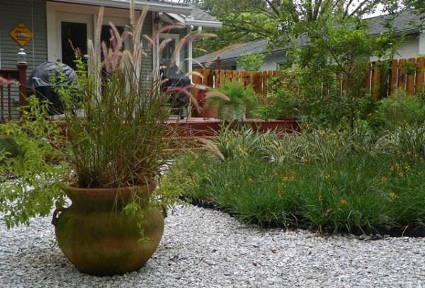 grassless landscaping outdoors