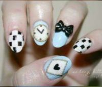 Alice in Wonderland Nails | Halloween | Pinterest