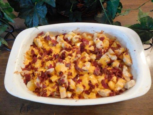 cheesy chicken potato bake in oven recipe