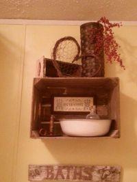 Primitive bathroom decor | For the Home | Pinterest