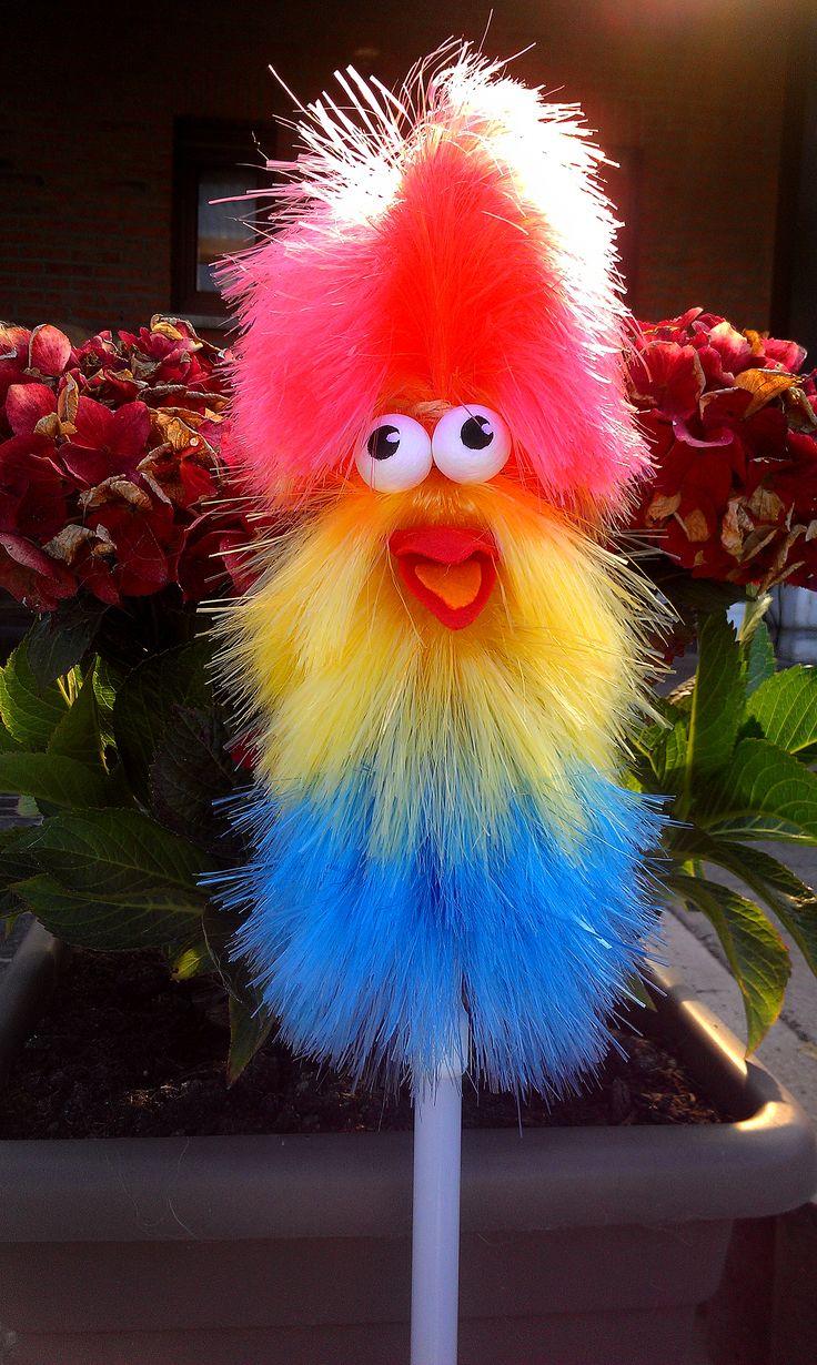 Fluffy de handpop - zalig gemaakt!! :-)