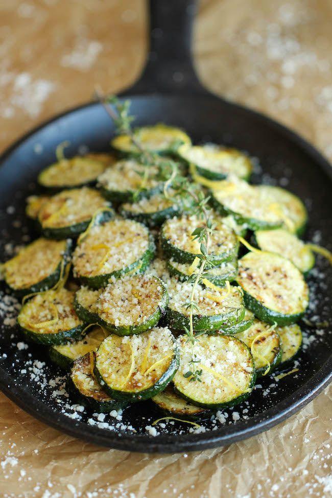 Parmesan Lemon Zucchini - Damn Delicious