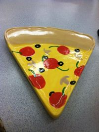 Hand painted ceramic pizza plate | OMG PYOP | Pinterest