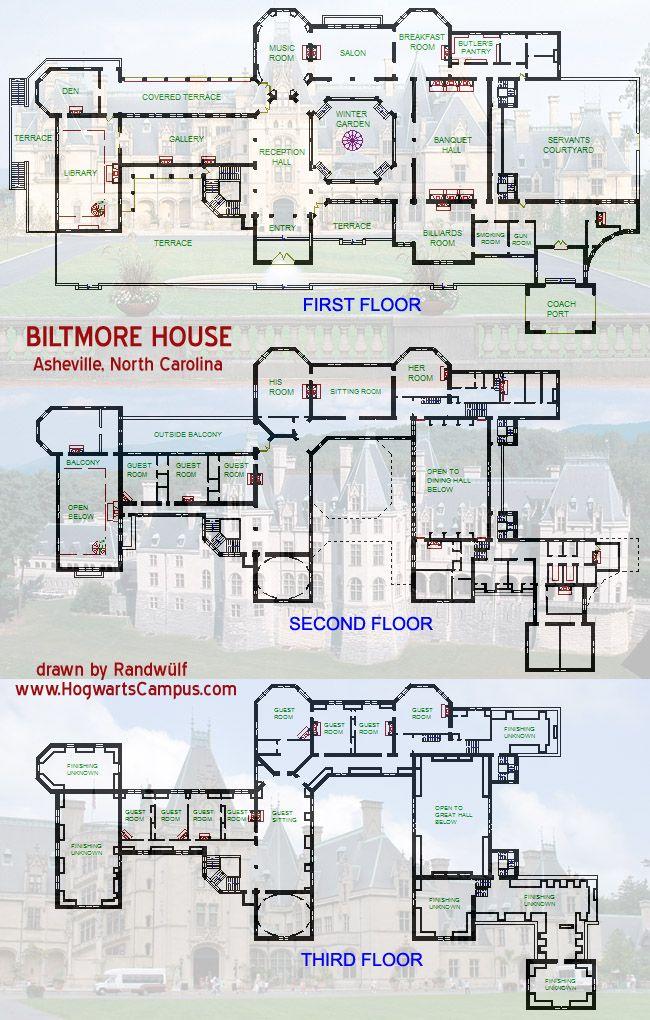 Biltmore house floor plan  Biltmore Estate  Asheville NC