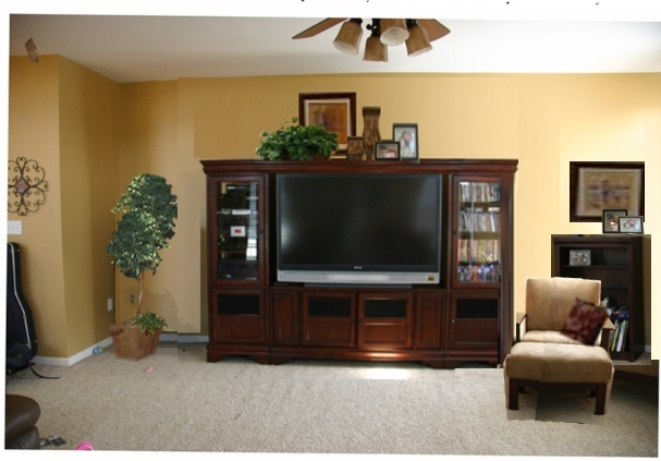 Help me decorate the top of my entertainment center  Home
