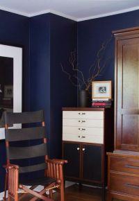 Navy blue painting wall | Lovely Lockwood Lane | Pinterest