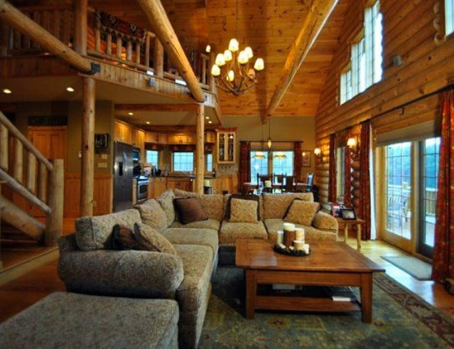 Log Cabin Living Rooms  Zion Star