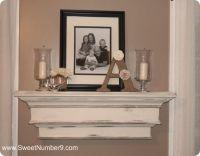 pb inspired distressed wall mantel shelf