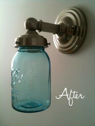 Mason Jar Light - The Red Shed would approve!