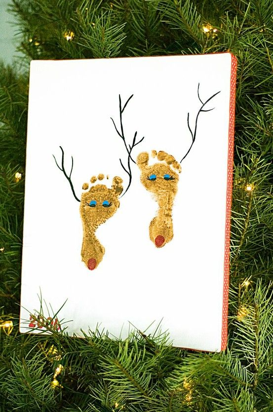 Footprint and Handprint Holiday Art Projects from Making It From Page to Table