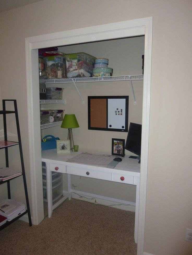 closet desk  desk ideas  Pinterest
