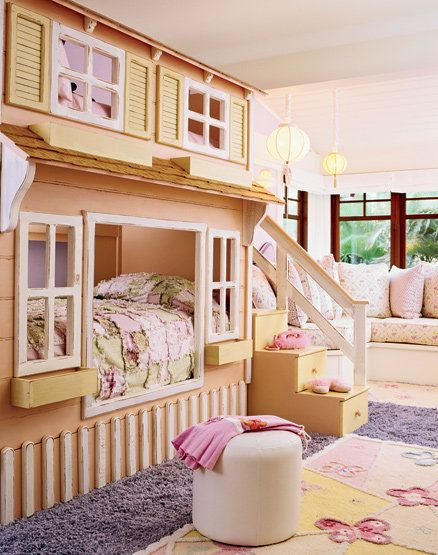 Darling bunk beds.