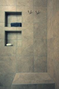 Bathroom Tile Shower Shelves : Awesome Red Bathroom Tile ...