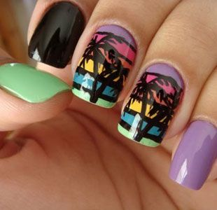 cool summer nails, that i would never have the patience to do, but their super fun looking! :)