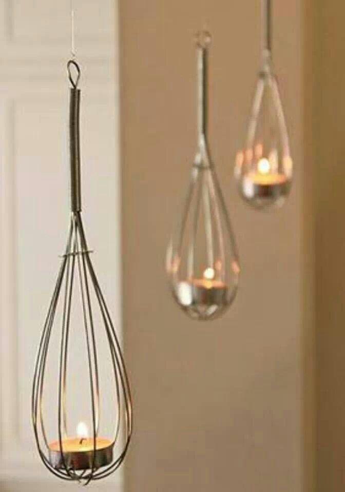 Whisk tea lights, so simple!